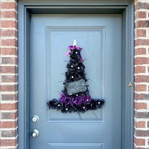 Awesome Halloween Witches Hat Front Door Wreath!